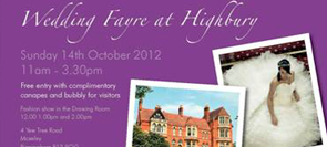 Wedding Fayre Highbury Hall